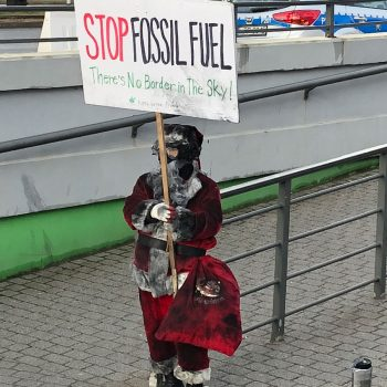fossil fuel protester